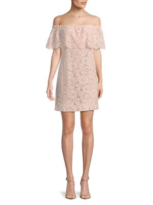 Off The Shoulder Lace Dress by Wayf