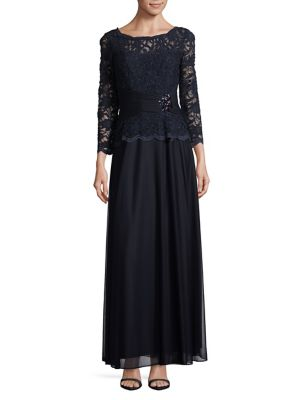 Floral Lace Gown by Cachet