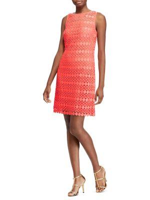 Lace Mesh Sleeveless Dress by Lauren Ralph Lauren