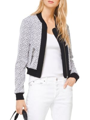 Floral Bomber Jacket by Michael Michael Kors