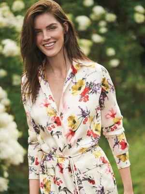 Floral Twill Utility Dress by Lauren Ralph Lauren