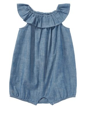 Baby Girl's Chambray Romper by Ralph Lauren Childrenswear