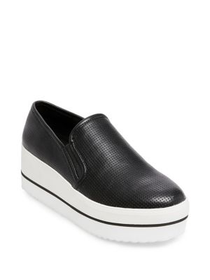 Becca Leather Platform Sneakers by Steve Madden