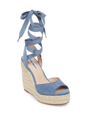 Secret Suede Platform Wedge Espadrilles by Steve Madden