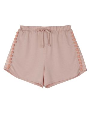 Girl's Pom Pom Trim French Terry Shorts by Ally B