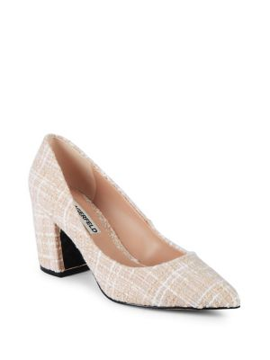 Addie Tweed Block Heel Shoes by Karl Lagerfeld Paris