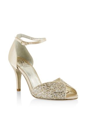 Fifi Metallic Peep Toe Pumps by Adrianna Papell