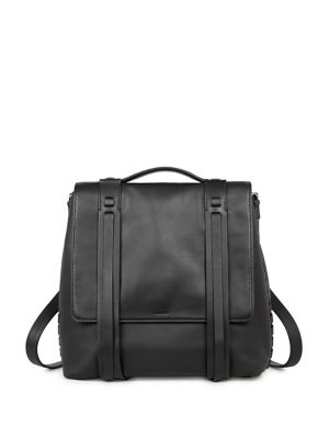 Fin Leather Shoulder Backpack by Allsaints