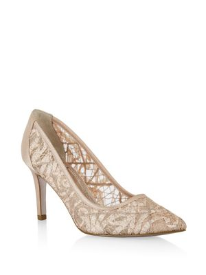 Hazyl Lace Pointed Toe Pumps by Adrianna Papell