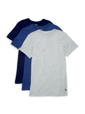 Three Pack Slim Fit Crewneck T Shirts by Polo Ralph Lauren