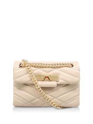 Mini Mayfair Leather Shoulder Bag by Kurt Geiger London