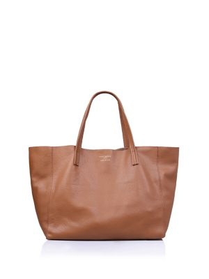 Horizontal Leather Tote by Kurt Geiger London
