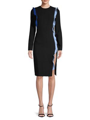fb4a92a7 Shoptagr   Charla Ruffled Sheath Dress by Black Halo