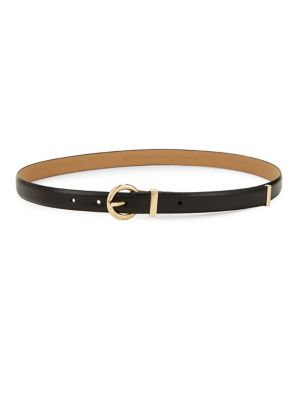 Skinny Vogue Leather Belt by Michael Michael Kors