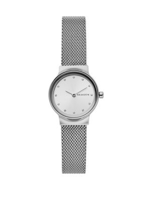 Freja Stainless Steel Round Mesh Bracelet Watch by Skagen
