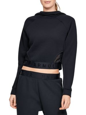 Raglan Sleeve Cropped Hoodie by Under Armour