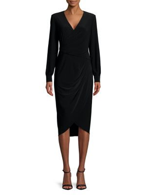 Draped Jersey Sheath Dress by Adrianna Papell