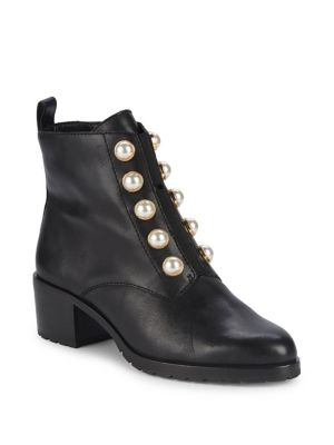 Floria Embellished Leather Ankle Boots by Lord & Taylor