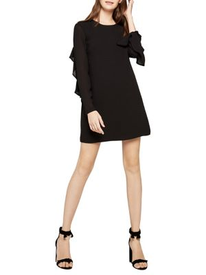 Ruffle Accented Shift Dress by Bcbgeneration