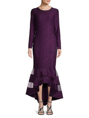 Long Sleeve Lace Mermaid Midi Dress by Lauren Ralph Lauren