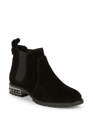 Saxe Beaded Leather Chelsea Boots by Karl Lagerfeld Paris