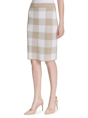 Check Pattern Skirt by Calvin Klein