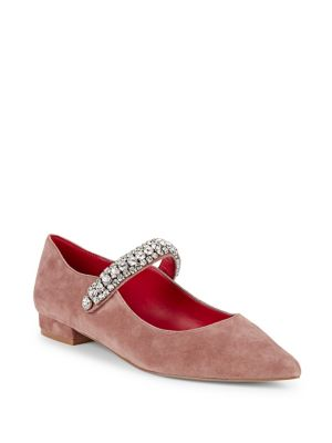 Kingly Embellished Leather Flats by Kurt Geiger London