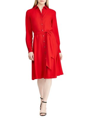 Long Sleeve Belted Shirtdress by Lauren Ralph Lauren