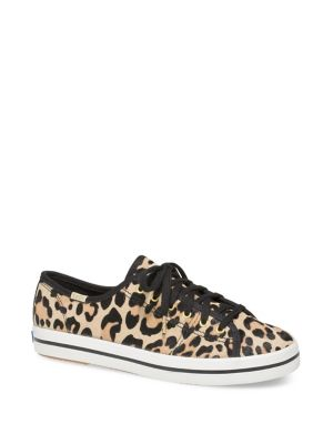 Kate Spade Kickstart Leopard Print Calf Hair Sneakers by Keds