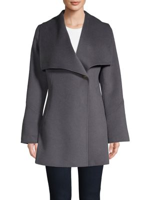 Wing Collar Walker Coat by Laundry By Shelli Segal