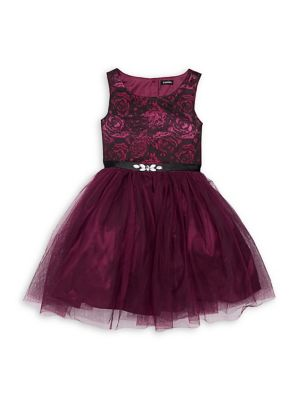 Girl's Brocade Tulle Dress by Zunie
