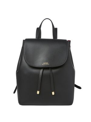 Drawstring Leather Backpack by Lauren Ralph Lauren