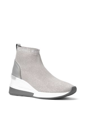 Skyler Metallic Knit Sneakers by Michael Michael Kors