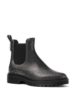 Tipton Metallic Rain Booties by Michael Michael Kors