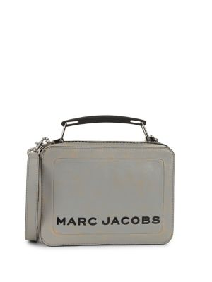 Leather Lunchbox Crossbody by Marc Jacobs