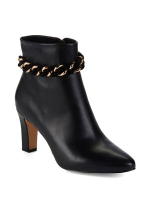 Maggie Suede Booties by Karl Lagerfeld Paris