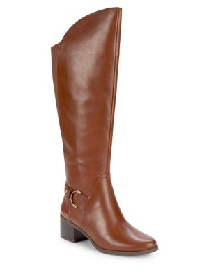 Jamee Leather Riding Boots by Anne Klein