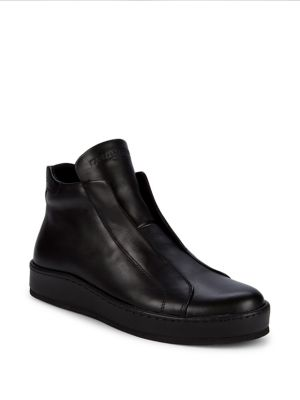 Laceless Leather Sneakers by Karl Lagerfeld