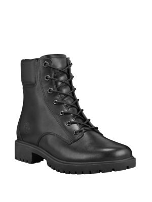 Jayne Leather Combat Boots by Timberland