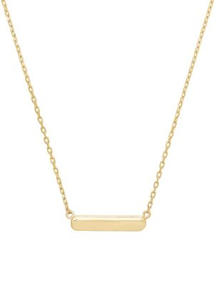 14 K Yellow Gold Bar Necklace by Lord & Taylor