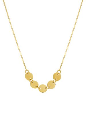 Disk 14 K Yellow Gold Necklace by Lord & Taylor