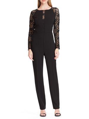 Jersey Lace Sleeve Jumpsuit by Lauren Ralph Lauren