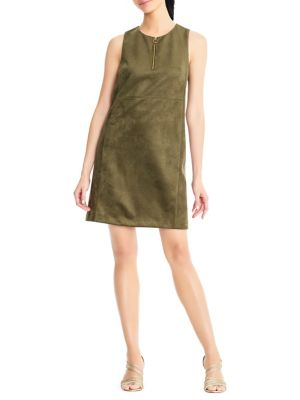 Suba Suede Shift Dress by Adrianna Papell