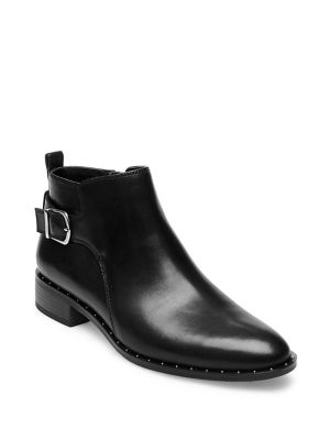 Chavi Leather Booties by Steven By Steve Madden