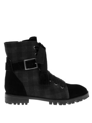 Celine Plaid Suede Booties by Splendid