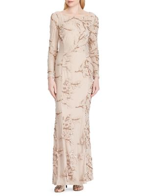 Sequined Embroidery Long Dress by Lauren Ralph Lauren