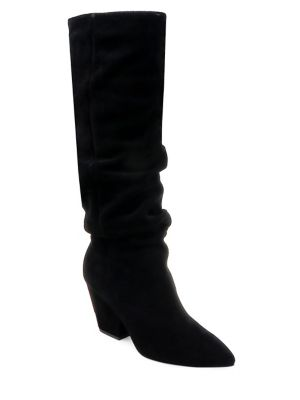 Point Toe Suede Knee High Boots by Splendid