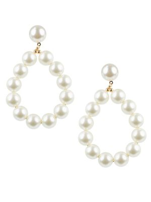 Faux Pearl Drop Earrings by Kenneth Jay Lane