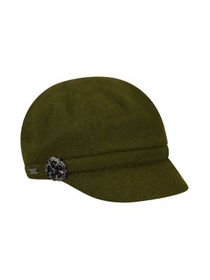 Embellished Wool Blend Cap by Betmar