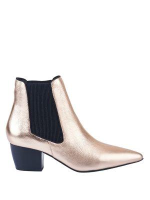 Ella Metallic Leather Boots by Sol Sana